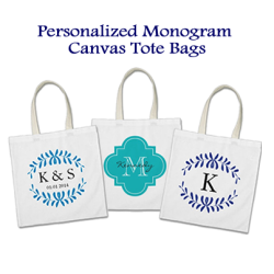 Personalized Monogram Tote Bags