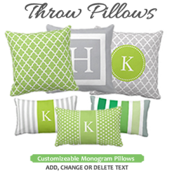 Custom Personalized Monogram Throw Pillows